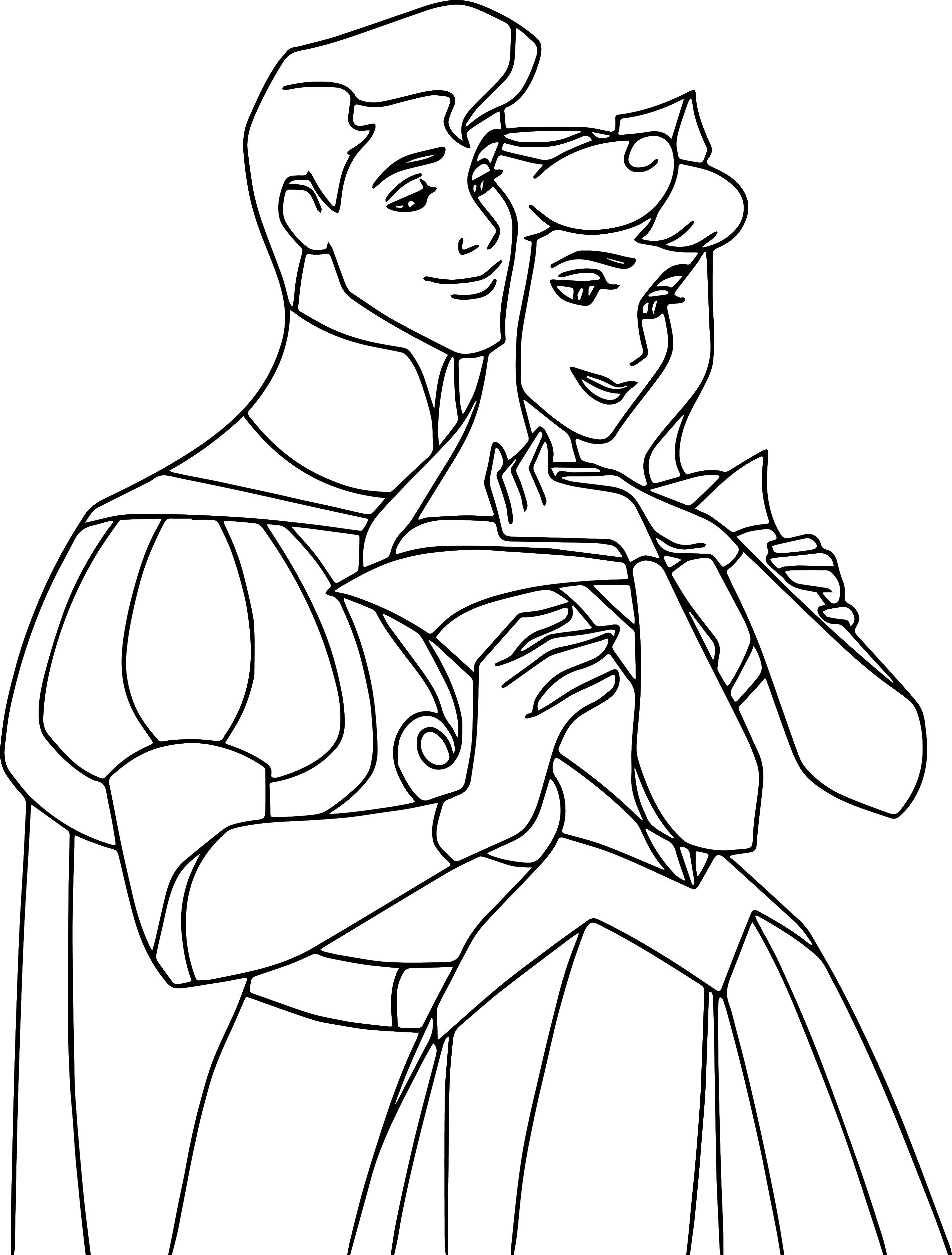 Disney Aurora S Story Aurora And Phillip Coloring Pages Sleeping