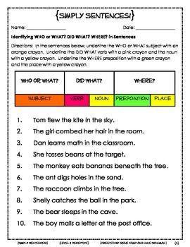 Simply SentencesTo Improve Sentence Comprehension and