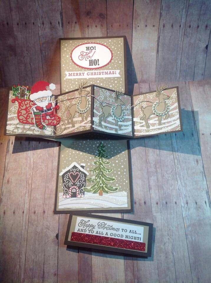 Fun fold Christmas card | Christmas cards & paper crafts | Pinterest ...