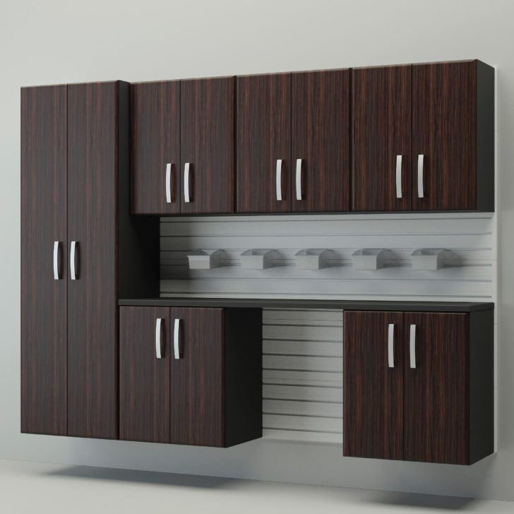 Plywood Garage Cabinet Plans: Furniture. The Most Valuable Garage Wall Cabinets. Dark