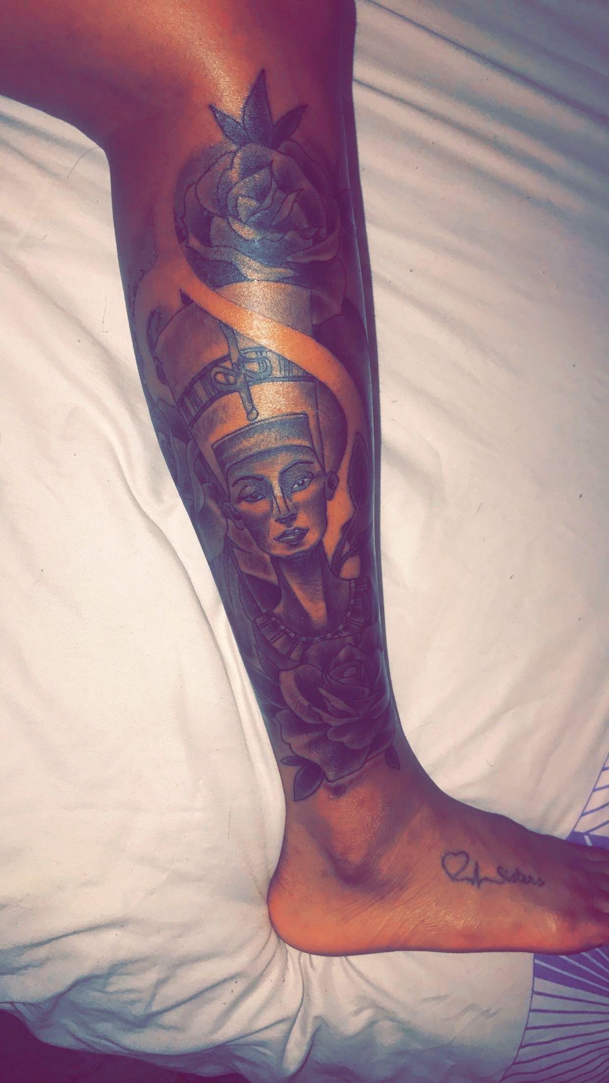 Nefertiti Tattoo Lower Leg | tattoo ideas | Pinterest ...