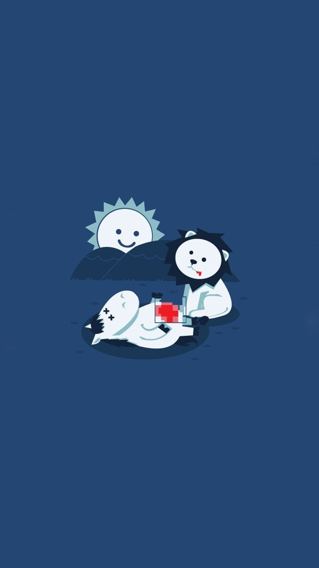 Sitting Under Sun Tap To See More Funny Cartoon Iphone Wallpapers