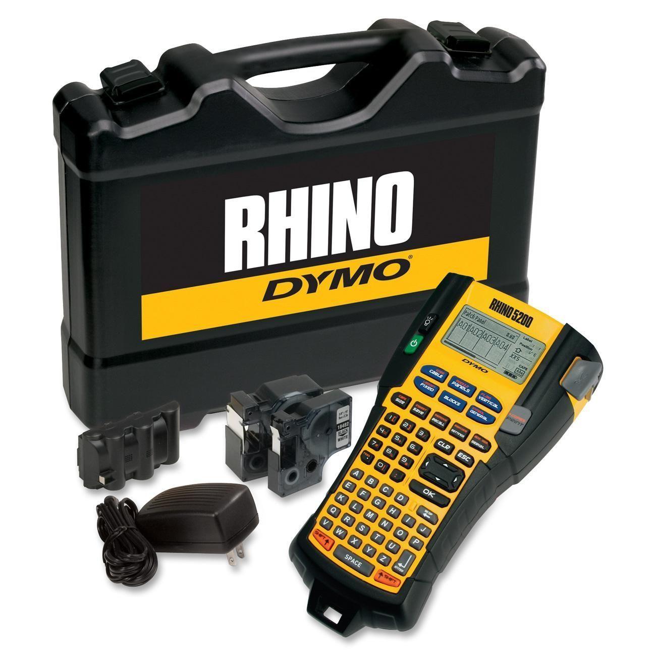 Dymo Rhino 5200 Label Maker Kit, Yellow Portable printer
