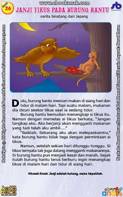 Janji Tikus Kepada Burung Hantu Yang Tidak Ditepatinya Dongeng Sebelum Tidur Buku Anak Buku