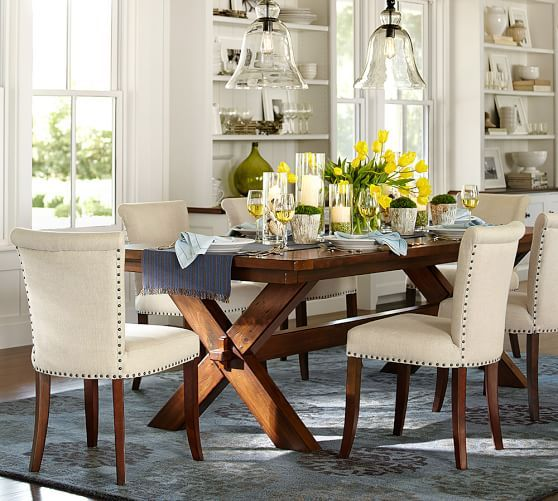 Toscana Extending Dining Table  Pottery Barn  Rikkard Extraordinary Dining Room Pottery Barn Inspiration Design