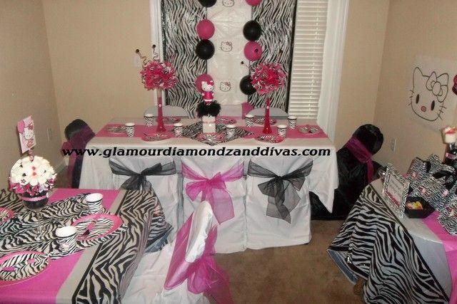 Hello Kitty ZebraHotpink Party Birthday Party Ideas Zebra