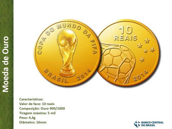 Veja as moedas comemorativas da Copa do Mundo de 2014