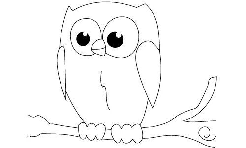 simple owl drawings