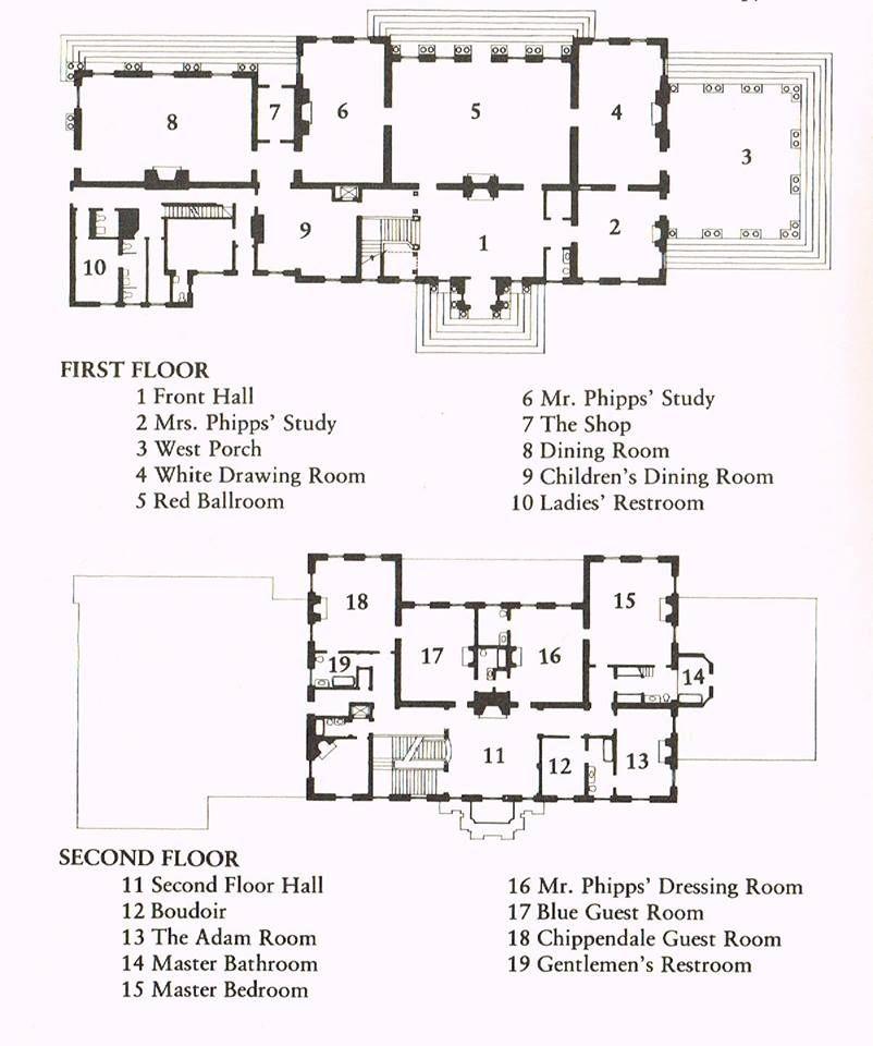 Westbury House: Old Westbury Gardens Floor Plan