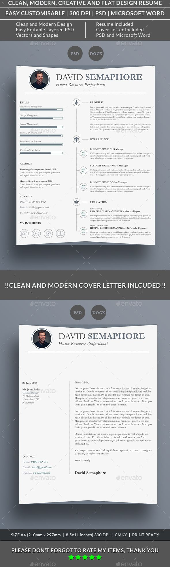 Creative Resume Set 03 Creative Resume Templates Design Resume