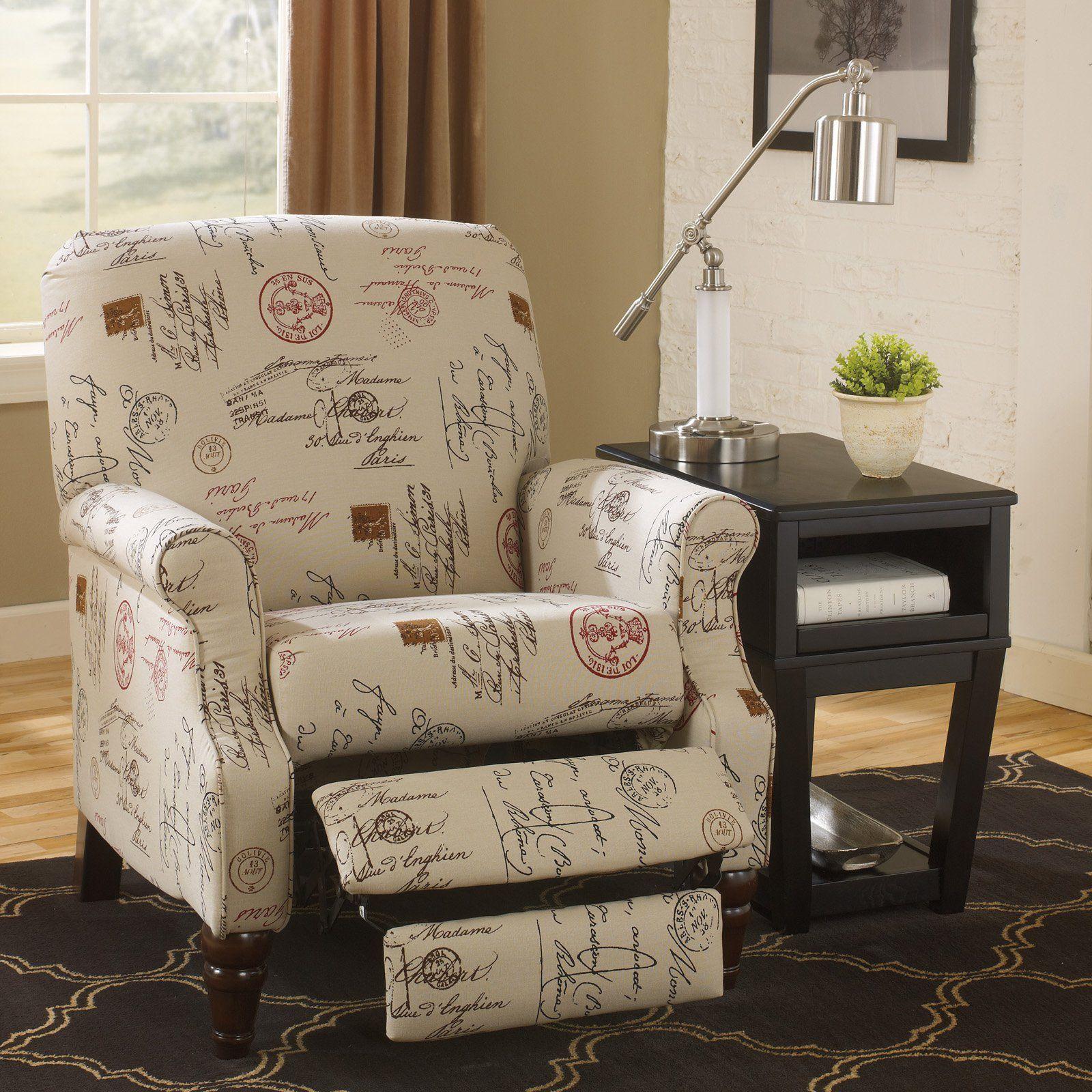 Ashley Furniture Placido Script Push Back Recliner From Hayneedle Com High Leg Recliner Furniture Ashley Furniture