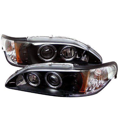 Spyder auto ford mustang black halogen led projector headlight http musclecarheaven net productspyder auto ford mustang black halogen led projector