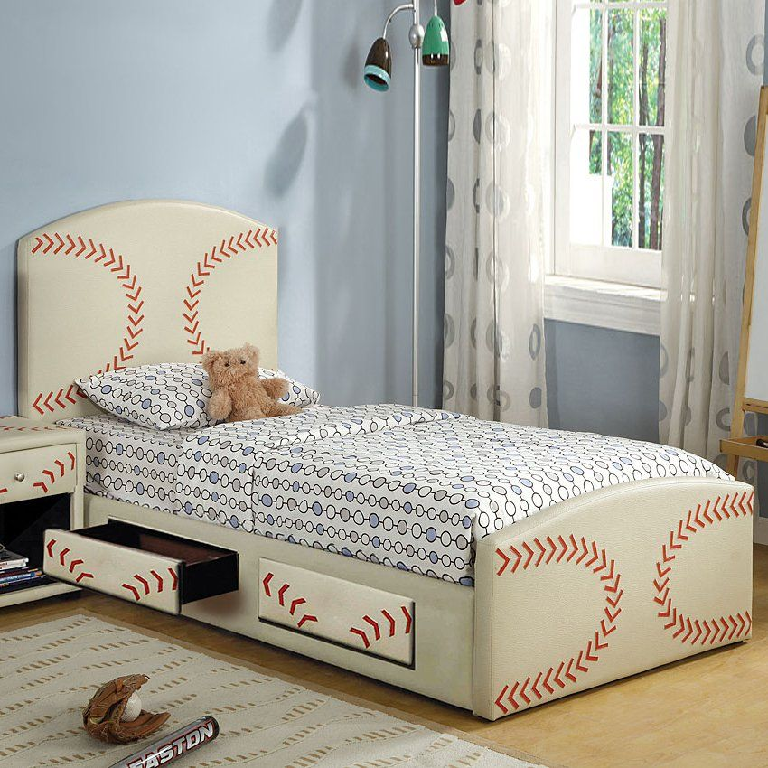 Baseball Bed  Furniture of America CM7102BSBL Decor