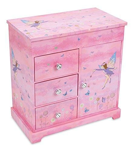Photo of Jewelkeeper Girl's Musical Jewelry Storage Box with 3 Pullout Drawers – Fairy