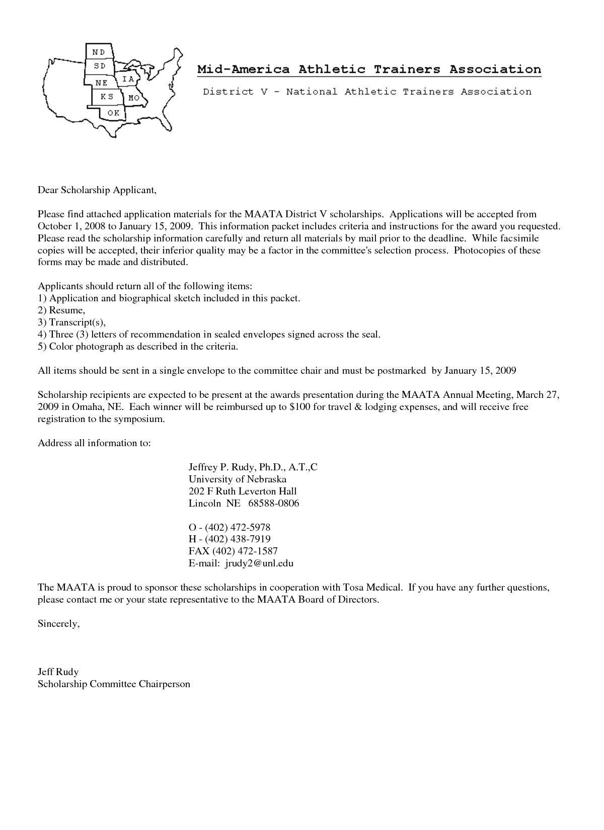 26+ Cover Letter For Scholarship in 2020 Letter example