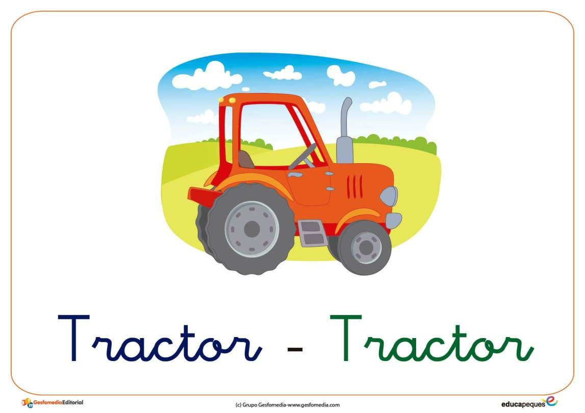 Tractor Ficha Transporte Medios De Transporte Transporte Tractor