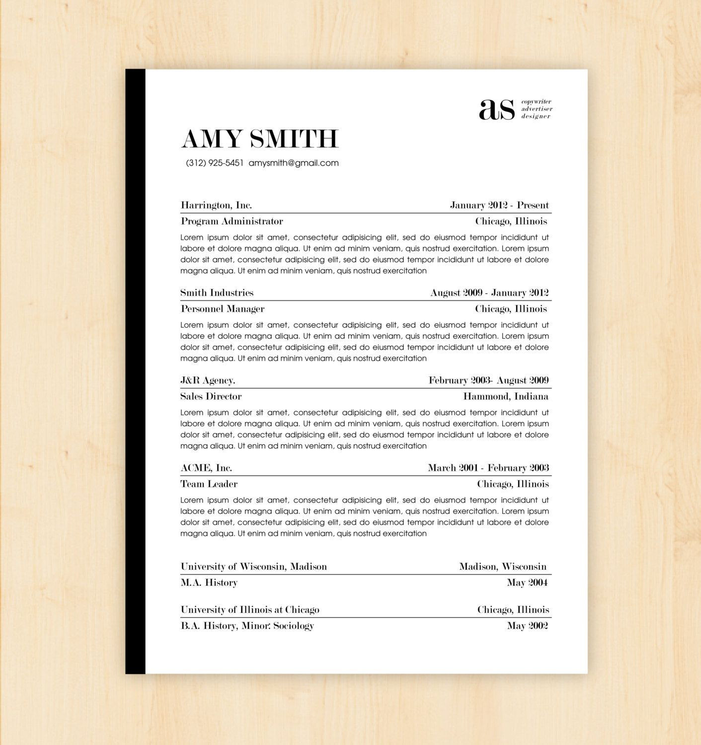 Resume Template  Cover Letter Template  Modern Resume And