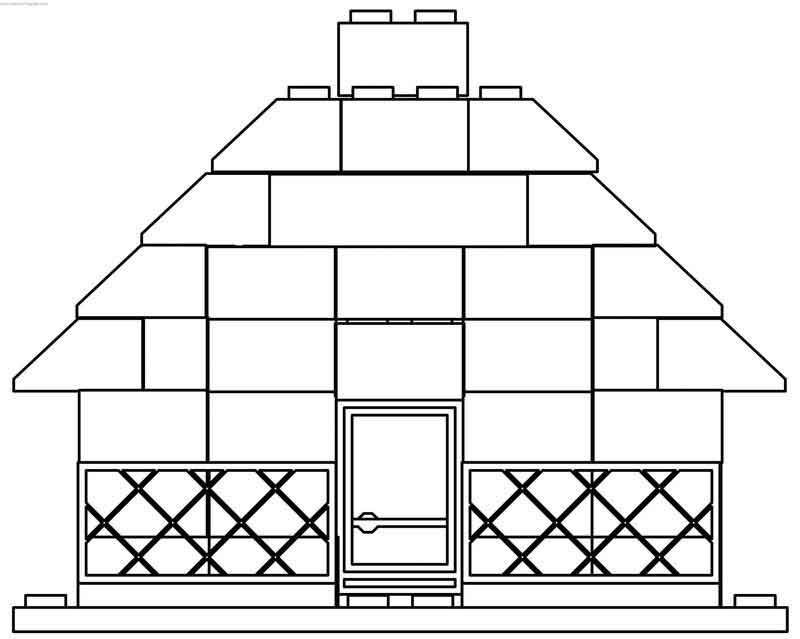 Lego House Coloring Page House Colouring Pages Lego Coloring Lego House