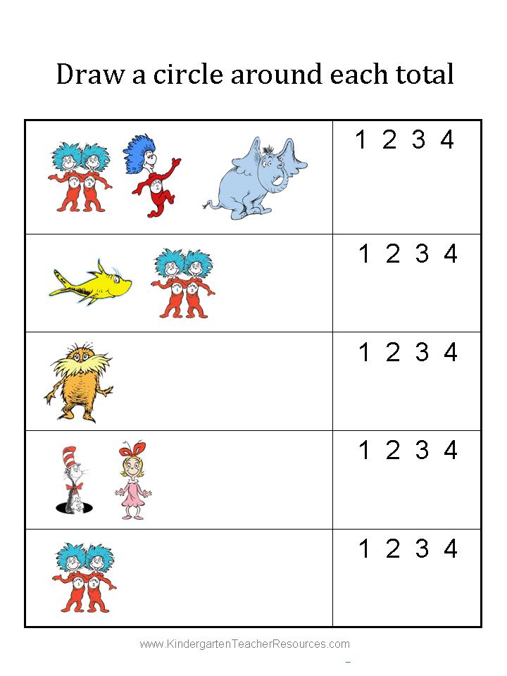 Gemütlich Frei Bedruckbare Dr Seuss Mathe Arbeitsblatt ...