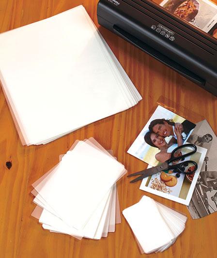 Set Of 100 Laminating Sheets Laminators Stationery Craft Laminate Sheets
