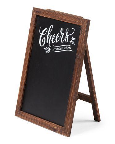 24x18 cheers wood framed chalkboard sign room wall decor tjmaxx - Wood Framed Chalkboard
