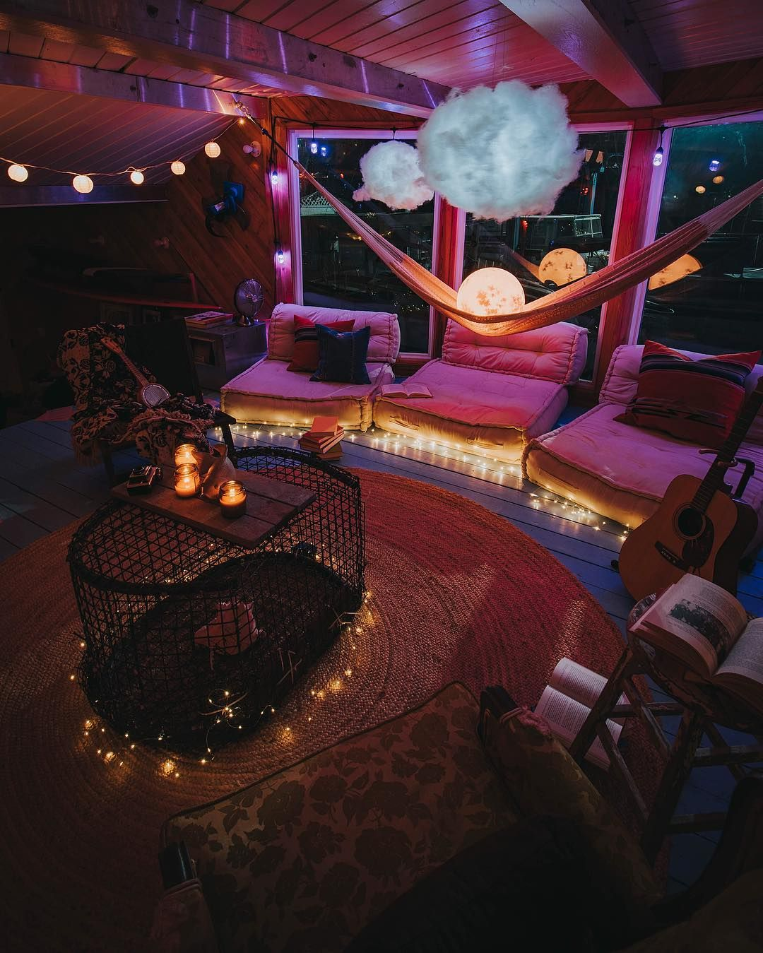 """Photo of Christopher Funk on Instagram: """"Had the pleasure of staying on the Ziggy Stardust houseboat this past weekend. Absolutely fell in love!! Here is a shot of the living room…"""""""