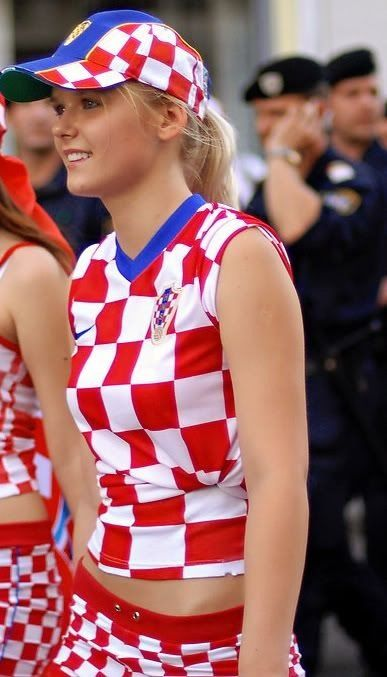 Croatian Fan Football girls, Hot football fans, Soccer girl