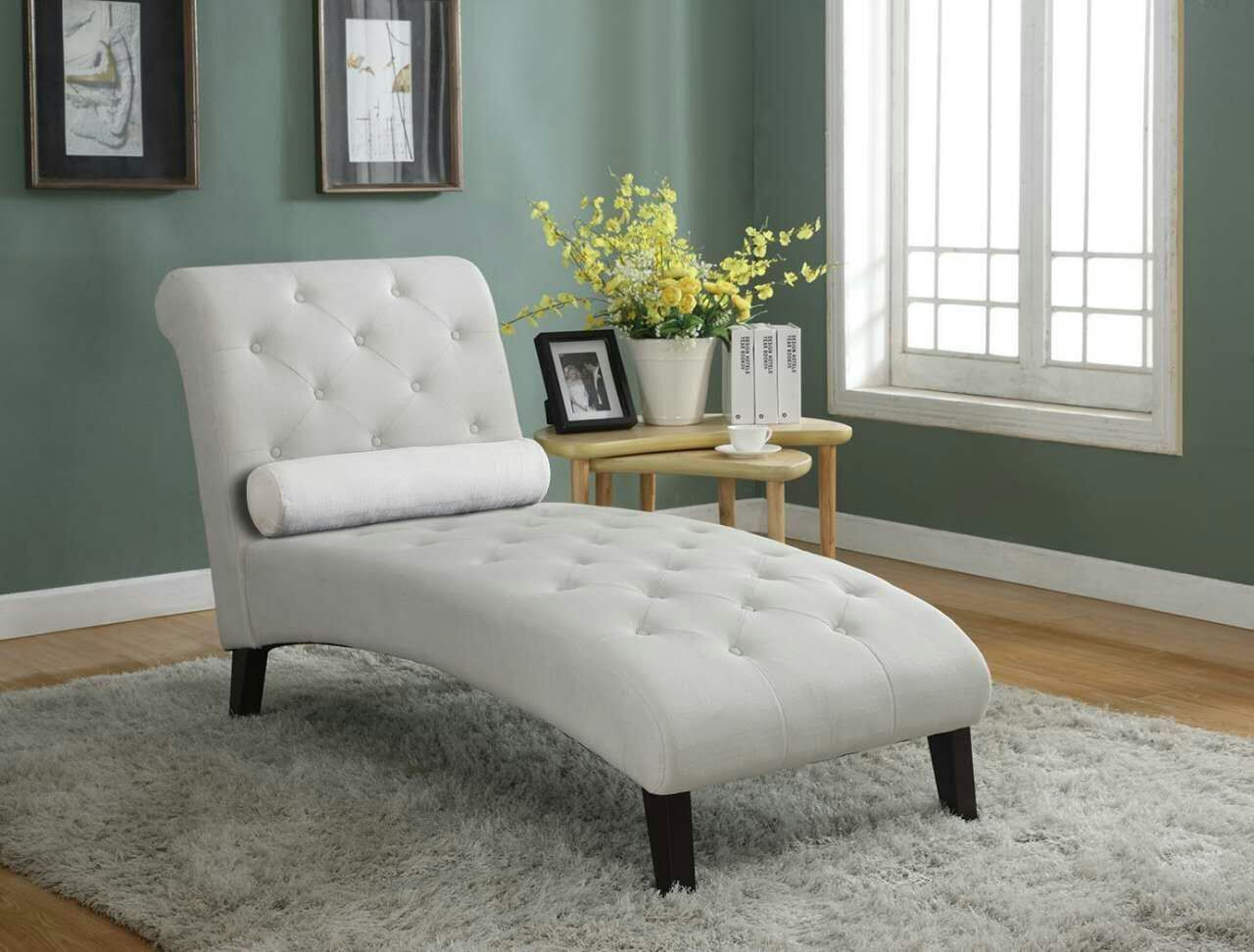 HomeLifeR Linen Chaise Lounger