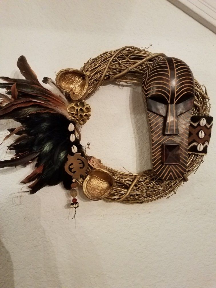 Chunky By Design Afrocentric Wall Hanging/Wreath (With