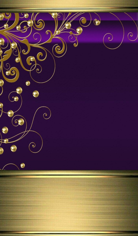 Purple And Gold Wallpaper Peinture Fond Ecran Piece De Monnaie
