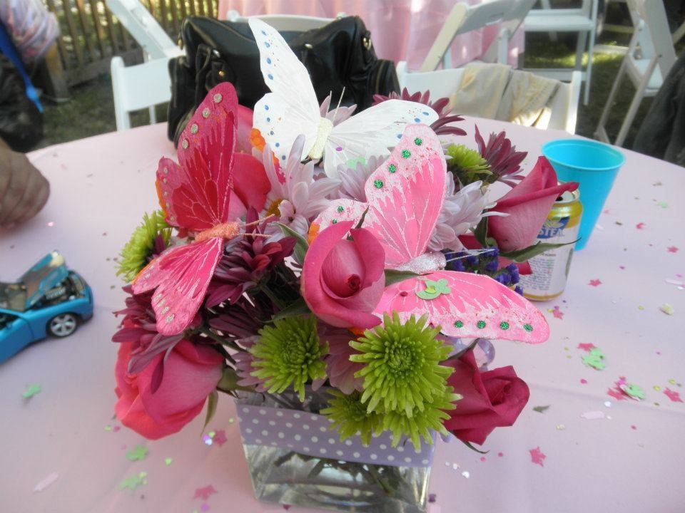 butterfly themed babyshower floral arrangements pinterest