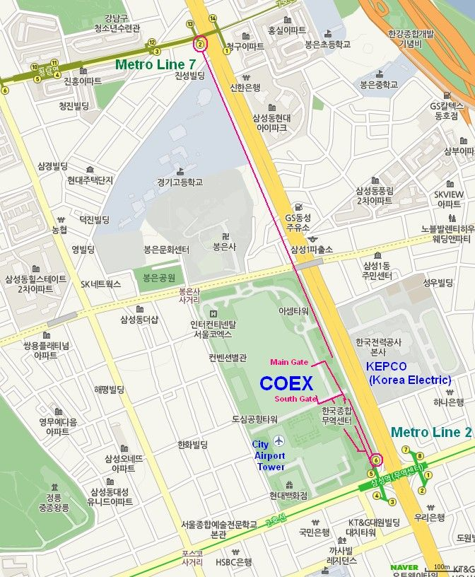 COEX Neighborhood Subways Metro Most conference participants will