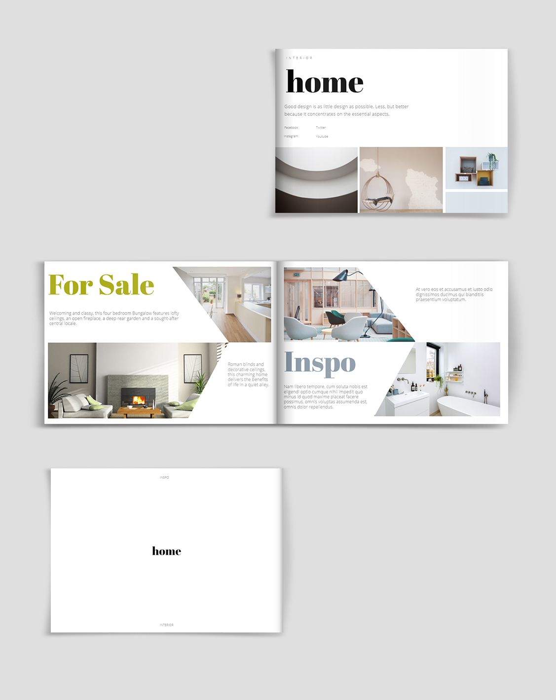 Interior Design Brochure Template Brochure Design Brochure