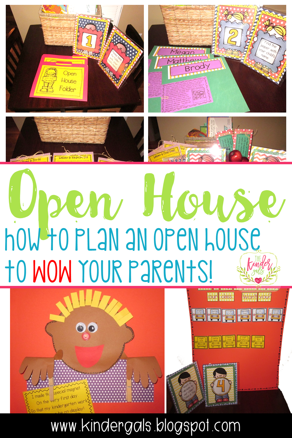 Open House ideas: How to plan an open house to WOW your parents. Here I  share all my tips for Kindergarten teachers getting ready for back to school  night ...