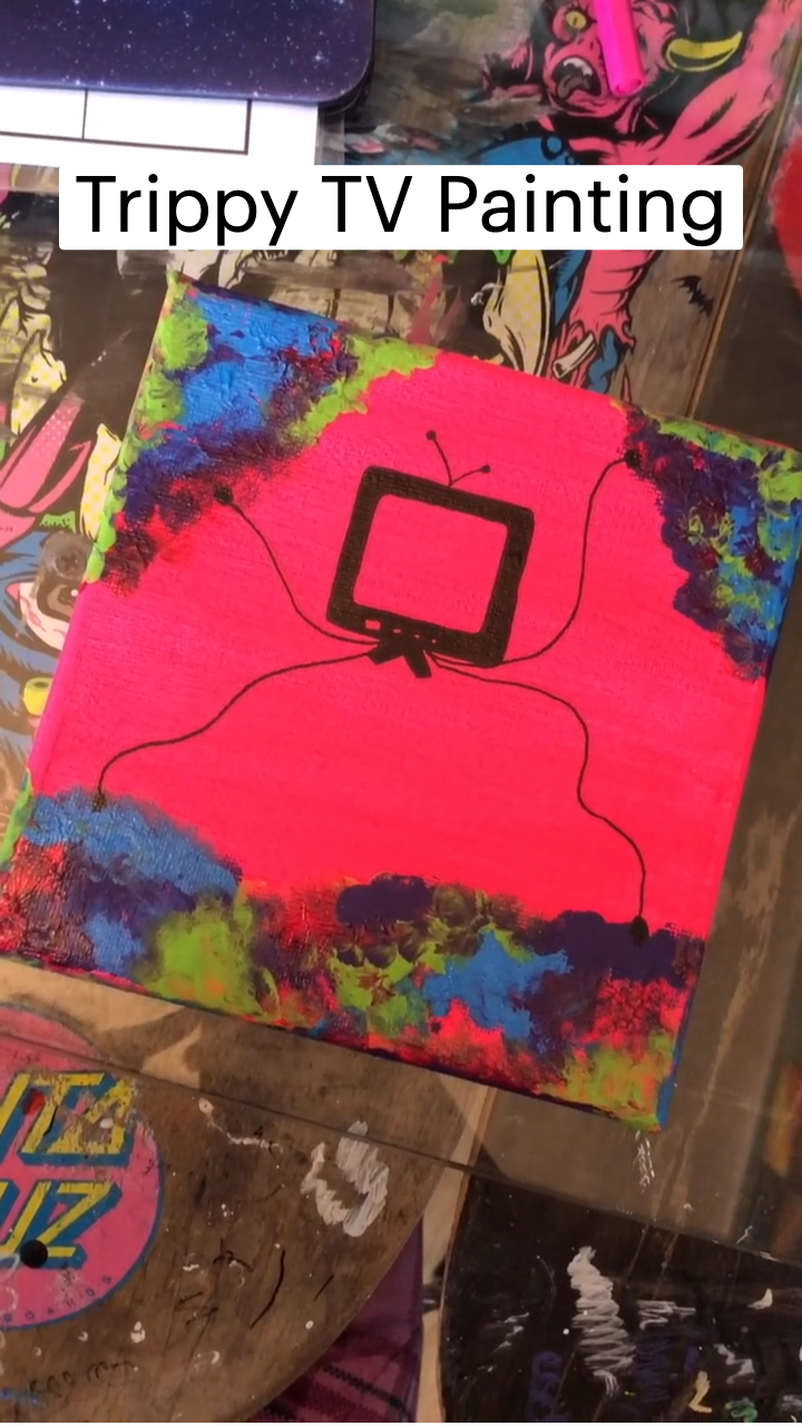 Trippy TV Painting