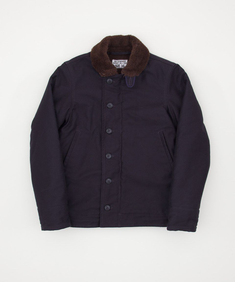 The Real McCoy's N-1 Deck Jacket - Navy