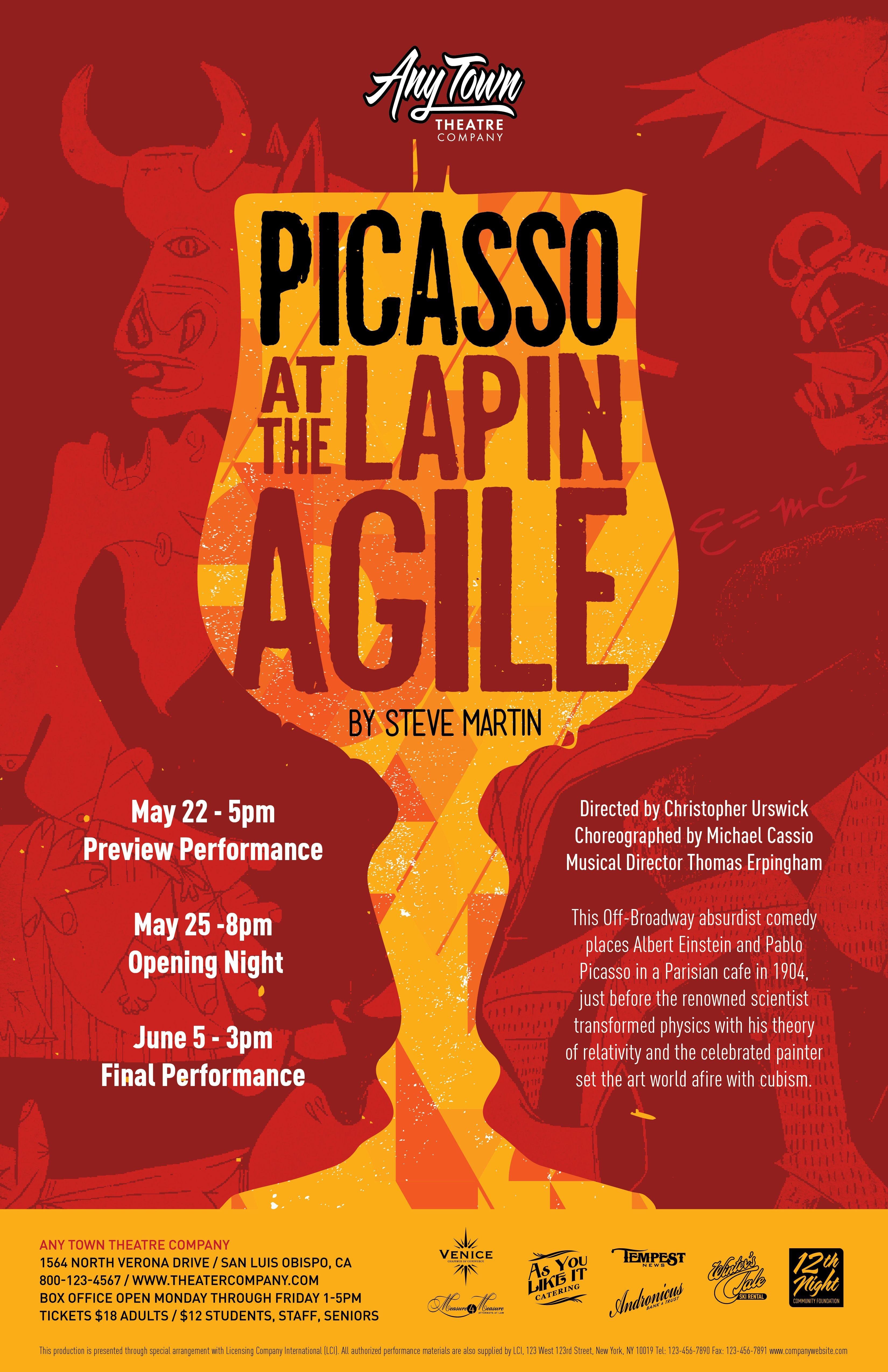 Poster design company - Subplot Studio Customizable Poster Design Picasso At The Lapin Agile