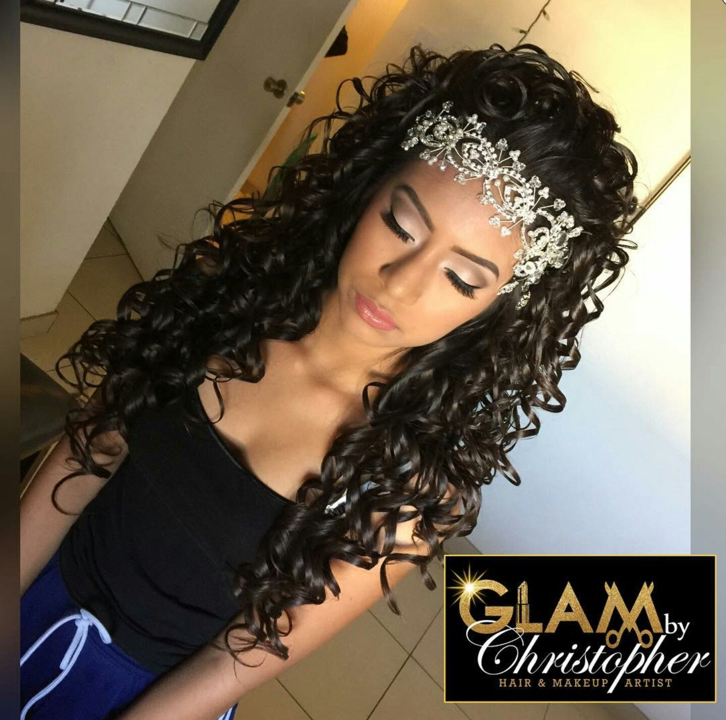 Hairstyles For Quinceaneras Glambychristopher  For Quinceñearas  Pinterest  Quinceanera Ideas