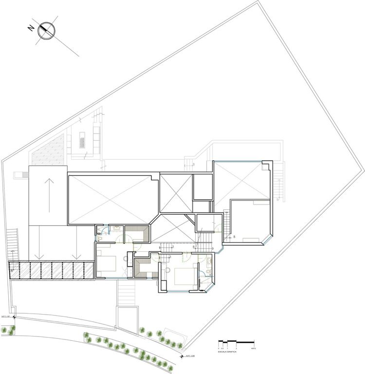 Loft Haus Plan Grundriss Mexiko