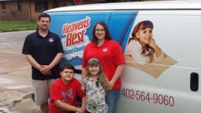 George and Megan Landkamer, Your Local Heaven's Best Carpet Cleaners Columbus NE