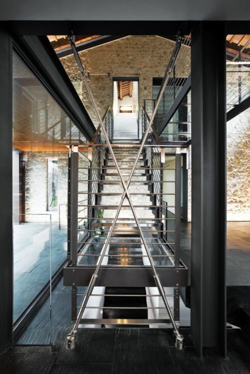Chiavellis' residence, a beautifully renovated barn in Northern Italy by Architect Filippo Caprioglio.