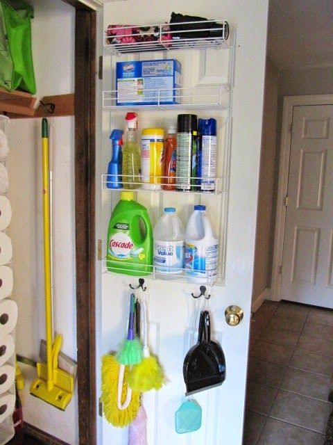 Broom Closet Organization Broom Closet Organizer Utility Closet Cleaning Closet Organization