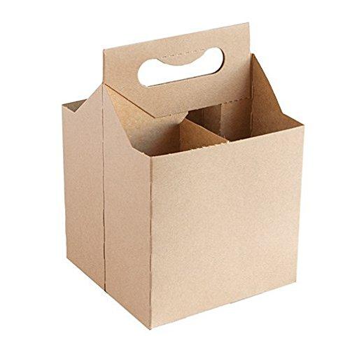 Amazon Com 12 Oz Cardboard 4 Pack Beer Bottle Carrier Kraft Weather Proof 4 Per Order Kitchen Dining Bottle Carrier Beer Bottle Carrier Wine Carrier