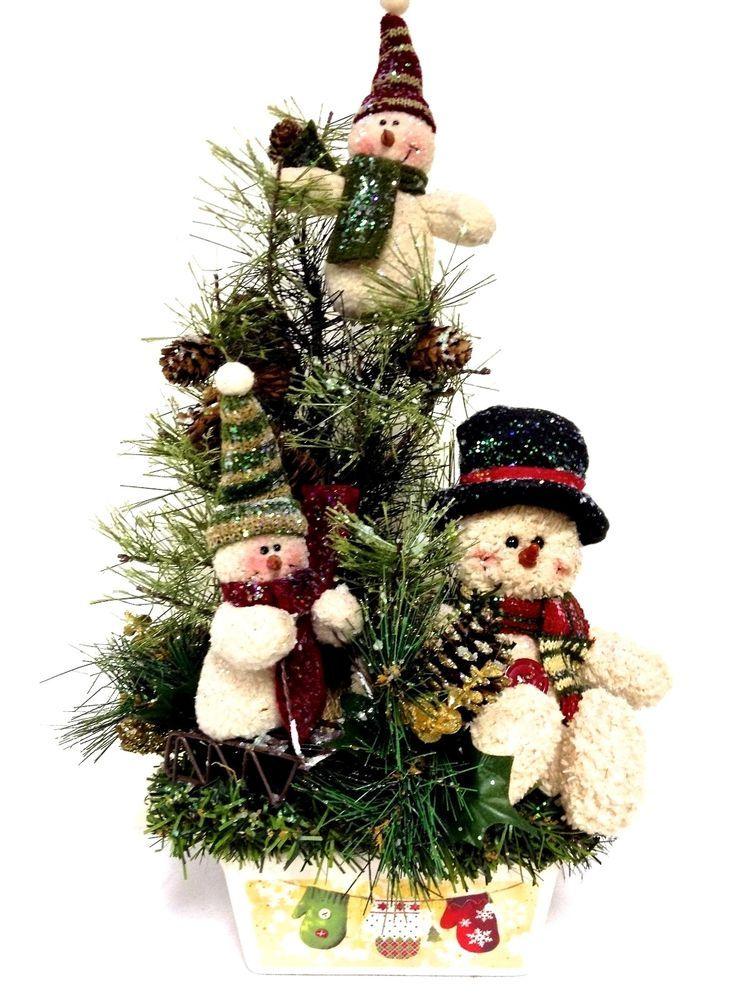 Snowman Family Winter Arrangement Christmas Centerpiece Custom Designed Customdesignedhand With Images Christmas Arrangements Christmas Floral Christmas Centerpieces