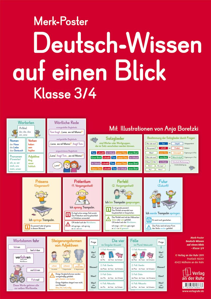 Deutsch-Wissen auf einen Blick - Klasse 3/4 | Gaby, León y Navidad