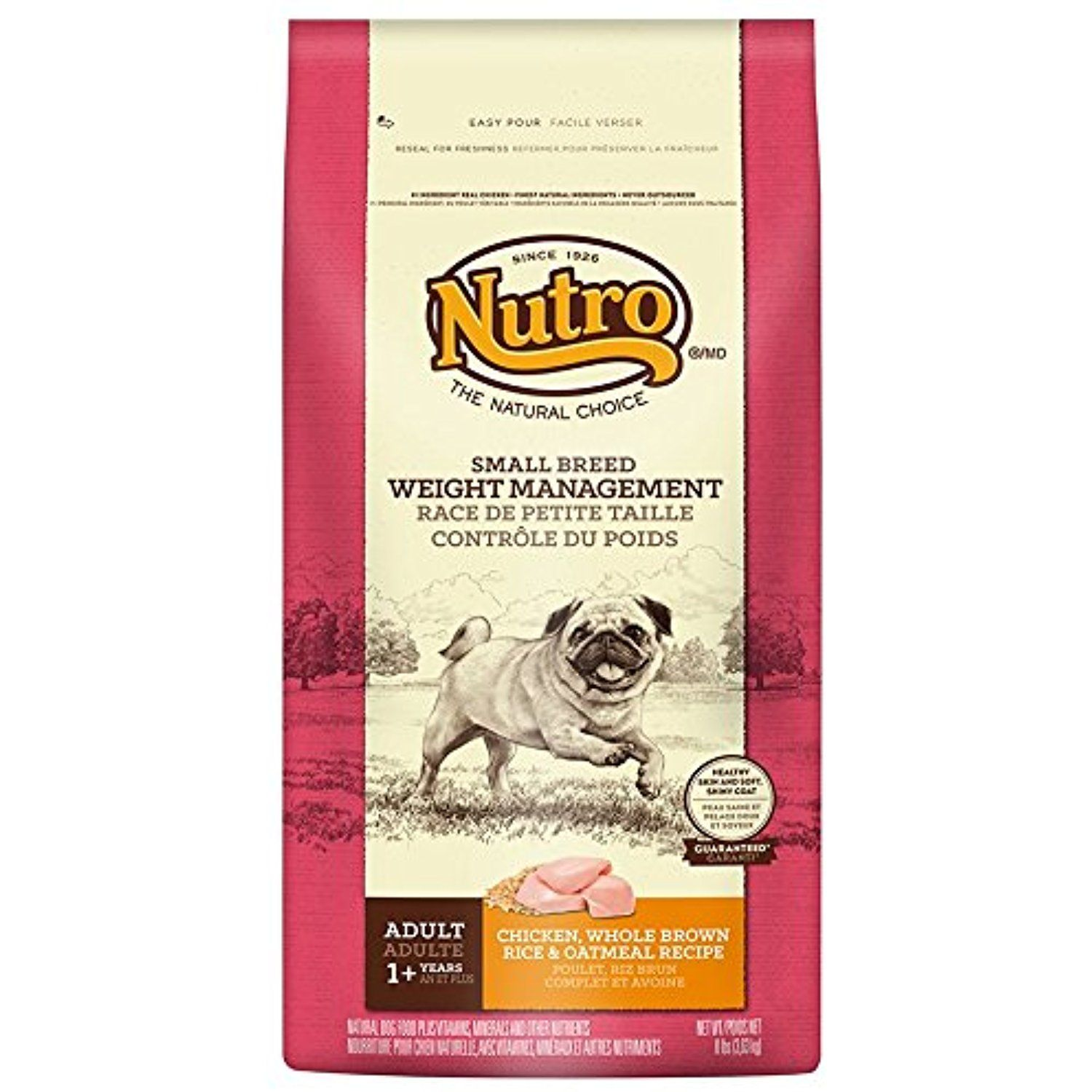 Nutro Small Breed Weight Management Dry Dog Food Chicken Brown
