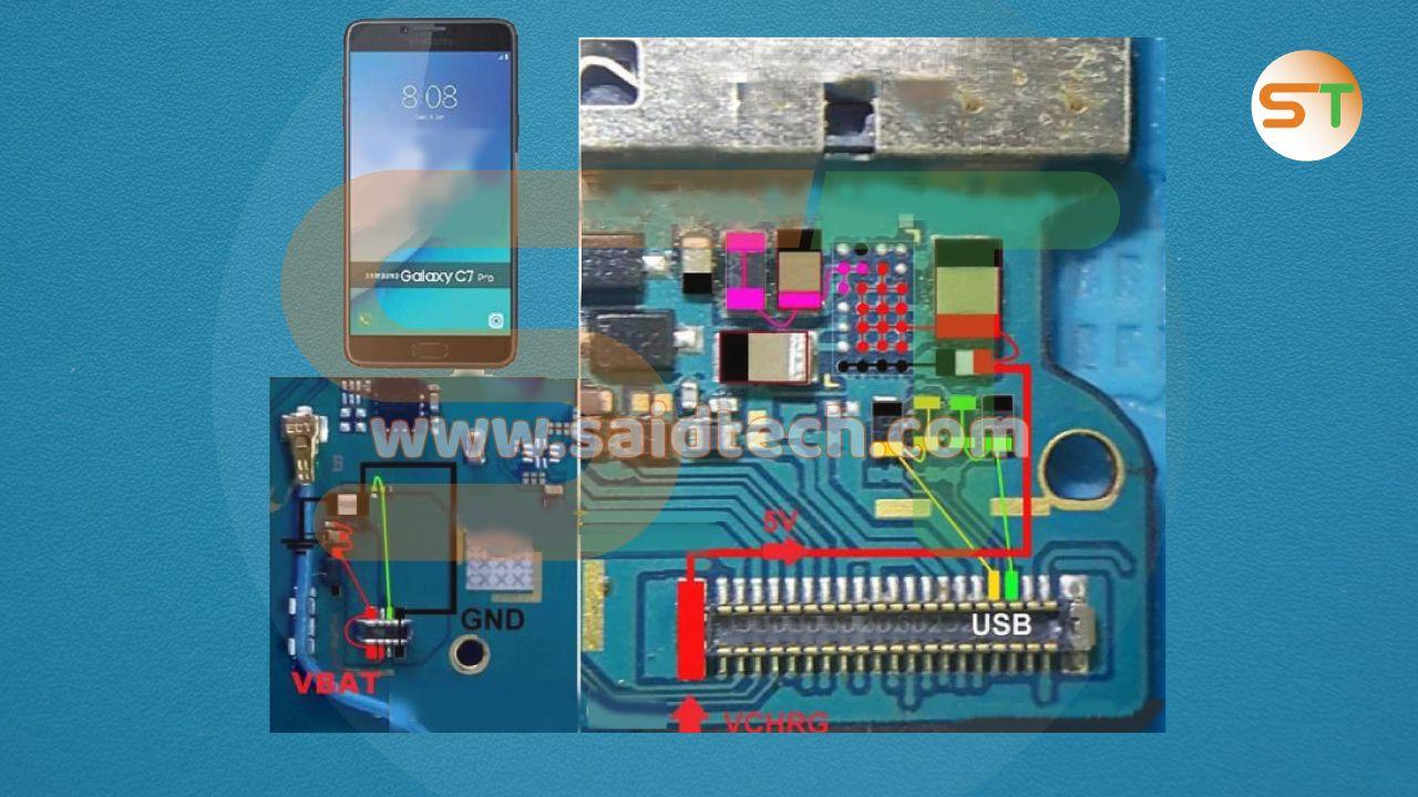 عطل الشحن Samsung C7 Pro C7010 Samsung C7 Pro C7010 Samsung Problem And Solution Charging