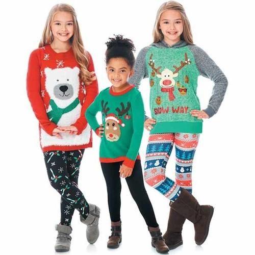 Girls 4-16 Christmas Sweaters