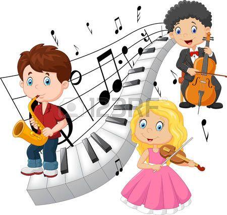 Ninos Tocando Musica Imagenes De Archivo Vectores Ninos Tocando Musica Fotos Libres De Derec Juegos Para Ninos Caricaturas De Ninos Imagenes De Ninos Felices