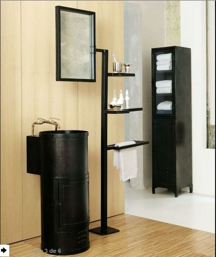 muebles para baños pequeños reciclados - Buscar con Google Muebles